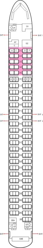 Sitzplätze sun express Sunexpress A330