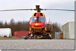 BK-117B2 D-HEOE DL Helicopter Zivilflugplatz Nordholz