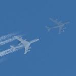 Luftbetankung E-3 AWACS / KC-135