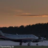 Pilatus PC-12/45 HB-FVZ auf dem Zivilflugplatz Nordholz