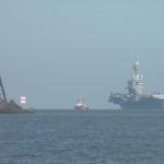 """Charles de Gaulle"" in Cuxhaven"
